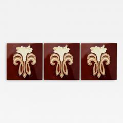 Gilliot 1 of 30 Art Jugendstil Ceramic Tiles by Gilliot Te Hemiksem circa 1920 - 1307441