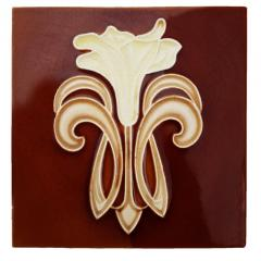 Gilliot 30 Art Jugendstil Ceramic Tiles by Gilliot Fabrieken Te Hemiksem circa 1920 - 1298234