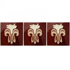 Gilliot 30 Art Jugendstil Ceramic Tiles by Gilliot Fabrieken Te Hemiksem circa 1920 - 1298239