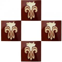Gilliot 30 Art Jugendstil Ceramic Tiles by Gilliot Fabrieken Te Hemiksem circa 1920 - 1298241