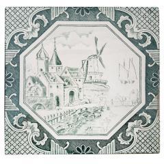 Gilliot Set of 4 of Ceramic Tiles by Gilliot Total 200 Tiles 1930 - 1298177