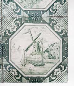 Gilliot Set of 4 of Ceramic Tiles by Gilliot Total 200 Tiles 1930 - 1298178