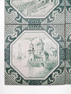 Gilliot Set of 4 of Ceramic Tiles by Gilliot Total 200 Tiles 1930 - 1298179