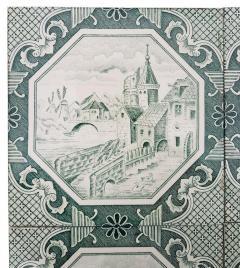 Gilliot Set of 4 of Ceramic Tiles by Gilliot Total 200 Tiles 1930 - 1298181