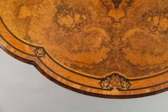 Gillows of Lancaster London 19th Century Shaped Centre Table with Inlay and Gilt Metal by Gillows - 625081