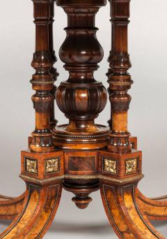 Gillows of Lancaster London 19th Century Shaped Centre Table with Inlay and Gilt Metal by Gillows - 625082