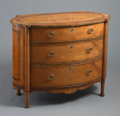 Gillows of Lancaster London A George III Satinwood Commode of Unusual Oval Form Attributed To Gillows - 502962