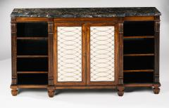 Gillows of Lancaster London A Regency Rosewood Breakfront Side Cabinet - 873519