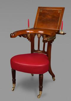 Gillows of Lancaster London A Very Fine Rosewood and Brass Inlaid Regency Library Reading Chair - 271852