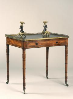 Gillows of Lancaster London Antique English Gillows of Lancaster Regency Period Mahogany Writing Table - 1247734