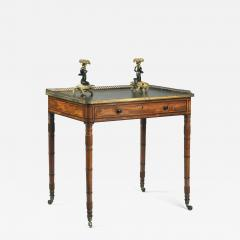 Gillows of Lancaster London Antique English Gillows of Lancaster Regency Period Mahogany Writing Table - 1250966