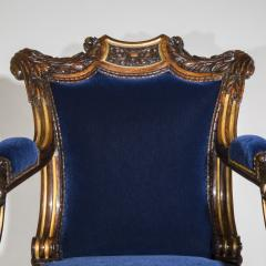 Gillows of Lancaster London English 19th Century Regency Rosewood and Gilded Desk Armchair circa 1825 - 1088419