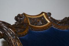 Gillows of Lancaster London English 19th Century Regency Rosewood and Gilded Desk Armchair circa 1825 - 1088420
