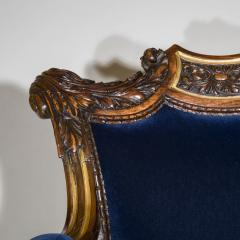 Gillows of Lancaster London English 19th Century Regency Rosewood and Gilded Desk Armchair circa 1825 - 1088421