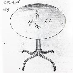 Gillows of Lancaster London English George III Regency Oval Lamp Table in Faded Mahogany - 1071206