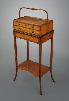 Gillows of Lancaster London George III Sheraton Period Satinwood Cheveret Probably by Gillows - 930149