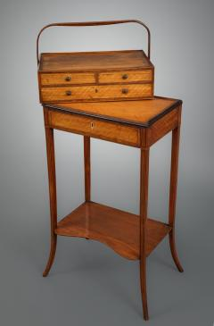 Gillows of Lancaster London George III Sheraton Period Satinwood Cheveret Probably by Gillows - 930151