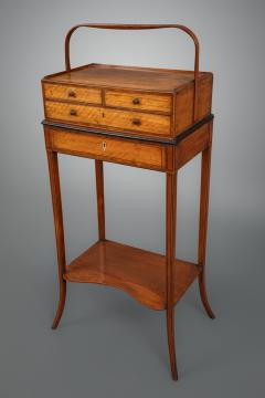 Gillows of Lancaster London George III Sheraton Period Satinwood Cheveret Probably by Gillows - 930155