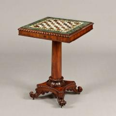 Gillows of Lancaster London Georgian Period Marble Top Games Table by Gillows of Lancaster - 627738