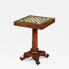 Gillows of Lancaster London Georgian Period Marble Top Games Table by Gillows of Lancaster - 629378
