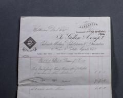 Gillows of Lancaster London Gillows Furniture and Furnishings Invoice dated 1874 - 805216