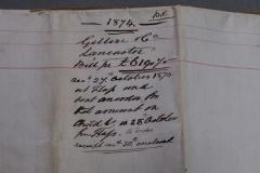 Gillows of Lancaster London Gillows Furniture and Furnishings Invoice dated 1874 - 805219
