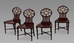 Gillows of Lancaster London Gillows Magnificent and Rare Set of Mahogany Hall Chairs c 1790 - 826138