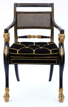 Gillows of Lancaster London Pair of Early 19th Century English Parcel Gilt Armchairs by Gillows - 842660