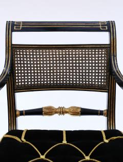 Gillows of Lancaster London Pair of Early 19th Century English Parcel Gilt Armchairs by Gillows - 842661