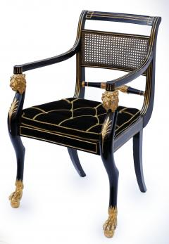 Gillows of Lancaster London Pair of Early 19th Century English Parcel Gilt Armchairs by Gillows - 842671