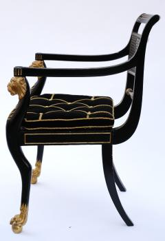 Gillows of Lancaster London Pair of Early 19th Century English Parcel Gilt Armchairs by Gillows - 842672