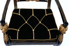 Gillows of Lancaster London Pair of Early 19th Century English Parcel Gilt Armchairs by Gillows - 842680