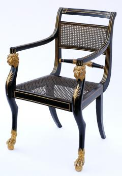 Gillows of Lancaster London Pair of Early 19th Century English Parcel Gilt Armchairs by Gillows - 842681