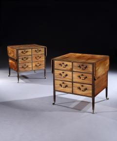 Gillows of Lancaster London Pair of George 111 Mahogany Freestanding Library Pemroke Sidetables - 1137542