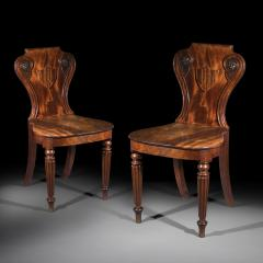 Gillows of Lancaster London Pair of Regency Hall Chairs - 1214500