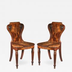 Gillows of Lancaster London Pair of Regency Hall Chairs - 1215303
