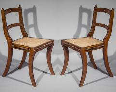 Gillows of Lancaster London Pair of Regency Klismos Chairs with Beaded Decoration - 1214875
