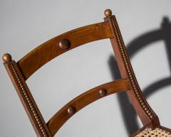 Gillows of Lancaster London Pair of Regency Klismos Chairs with Beaded Decoration - 1214878