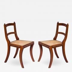 Gillows of Lancaster London Pair of Regency Klismos Chairs with Beaded Decoration - 1214967