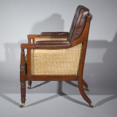 Gillows of Lancaster London Regency Mahogany Caned Bergere Armchair attributed to Gillows - 1047806