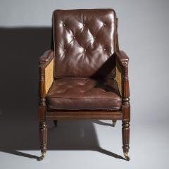 Gillows of Lancaster London Regency Mahogany Caned Bergere Armchair attributed to Gillows - 1047807
