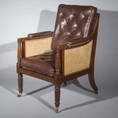 Gillows of Lancaster London Regency Mahogany Caned Bergere Armchair attributed to Gillows - 1047808