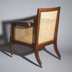 Gillows of Lancaster London Regency Mahogany Caned Bergere Armchair attributed to Gillows - 1047809