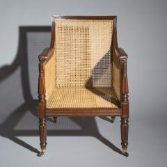 Gillows of Lancaster London Regency Mahogany Caned Bergere Armchair attributed to Gillows - 1047810