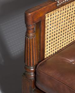 Gillows of Lancaster London Regency Mahogany Caned Bergere Armchair attributed to Gillows - 1047811