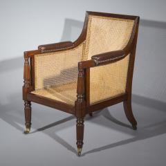 Gillows of Lancaster London Regency Mahogany Caned Bergere Armchair attributed to Gillows - 1047812