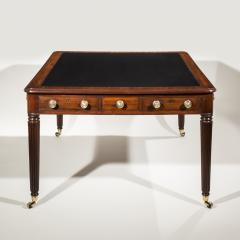 Gillows of Lancaster London Regency Mahogany Double Sided Library Table or Desk - 918899