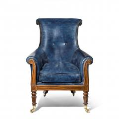 Gillows of Lancaster London Regency Mahogany Library Chair by Gillows English circa 1815 - 1115897