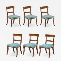 Gillows of Lancaster London Set of Six Regency Klismos Dining Chairs with Greek Key decoration - 1085857