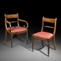 Gillows of Lancaster London Set of Twelve Regency Dining Chairs - 1215179